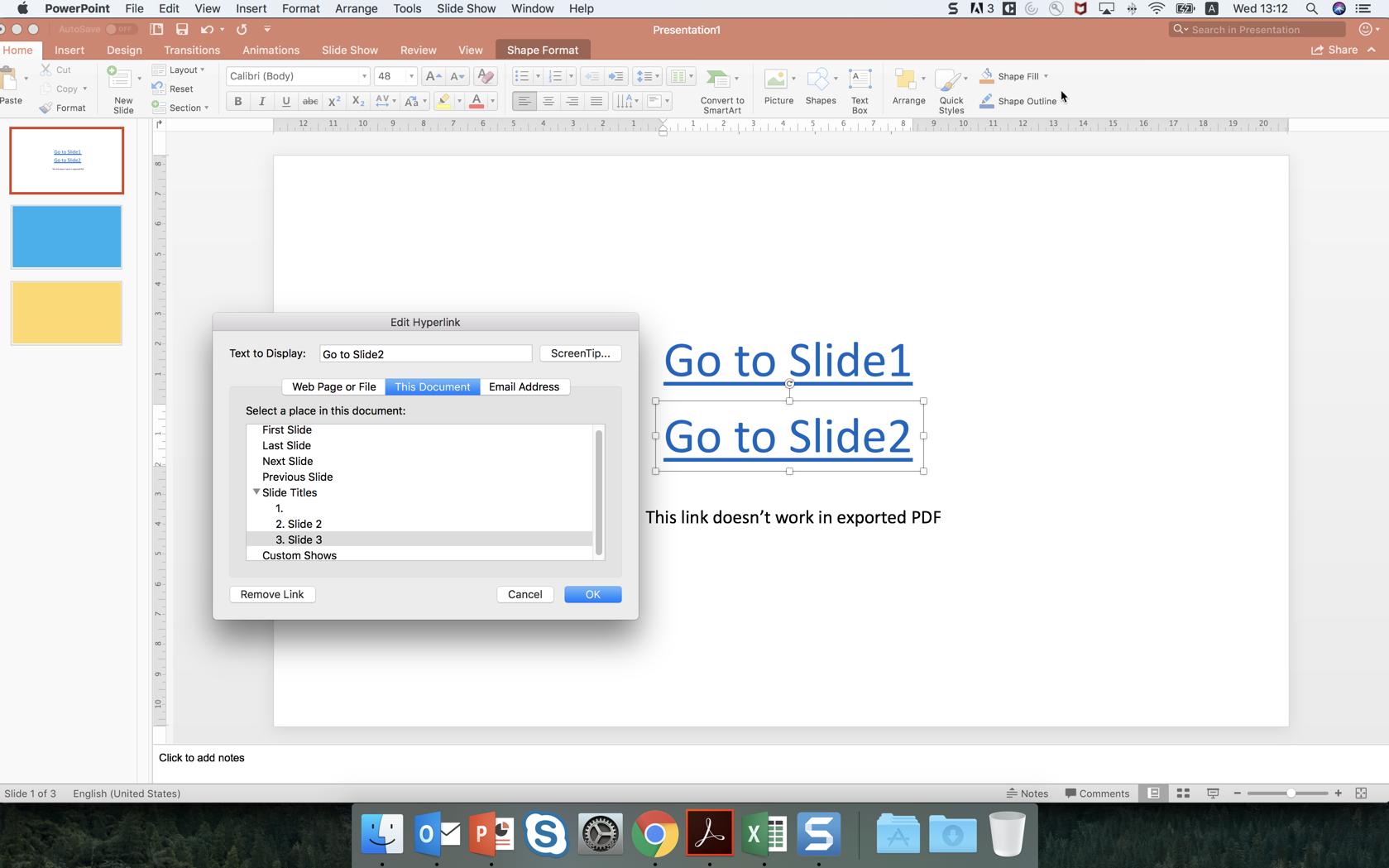 hyperlinks in pdf not working mac