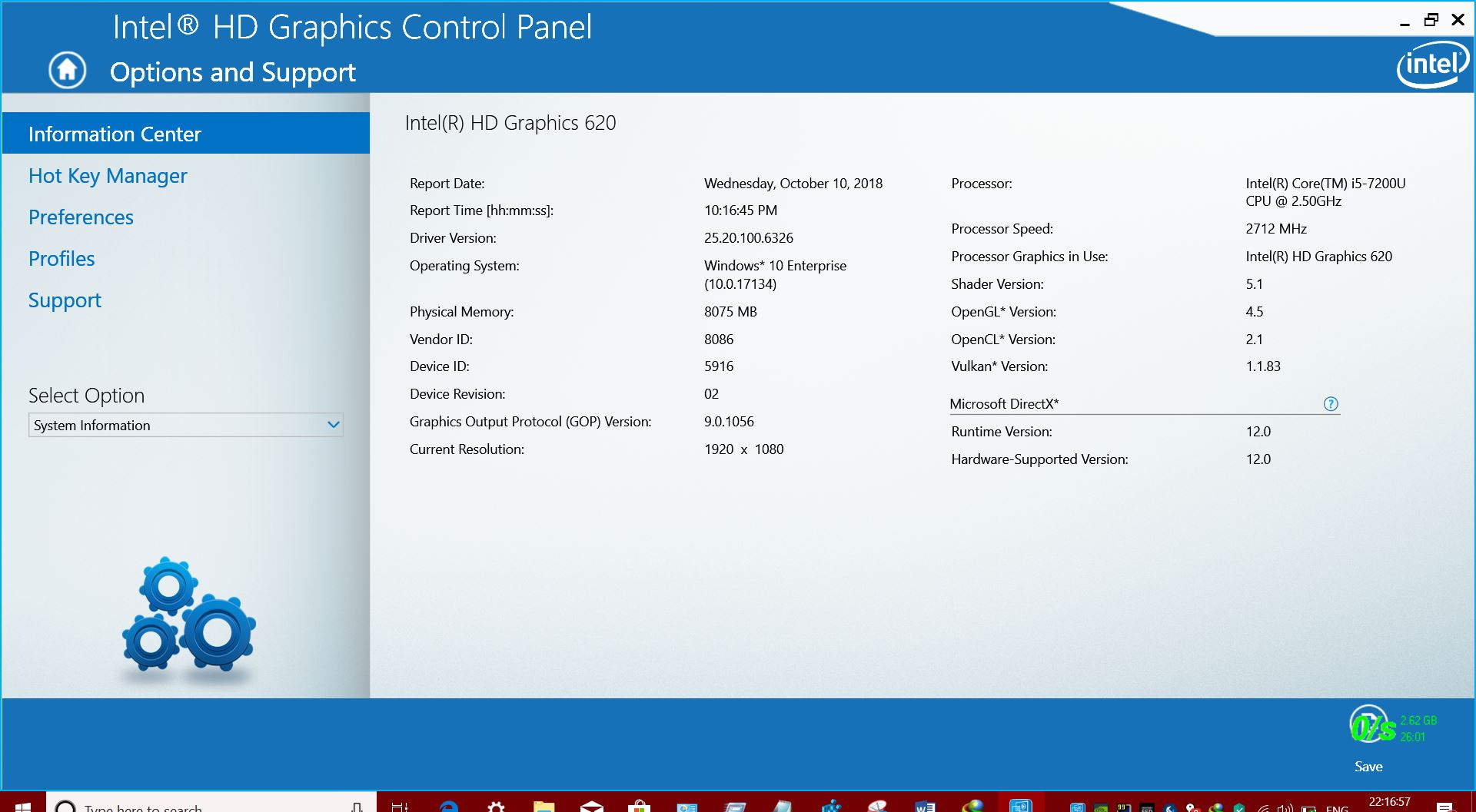 INTEL RELEASED GRAPHICS DRIVER V 25201006326 FOR WINDOWS 10 64