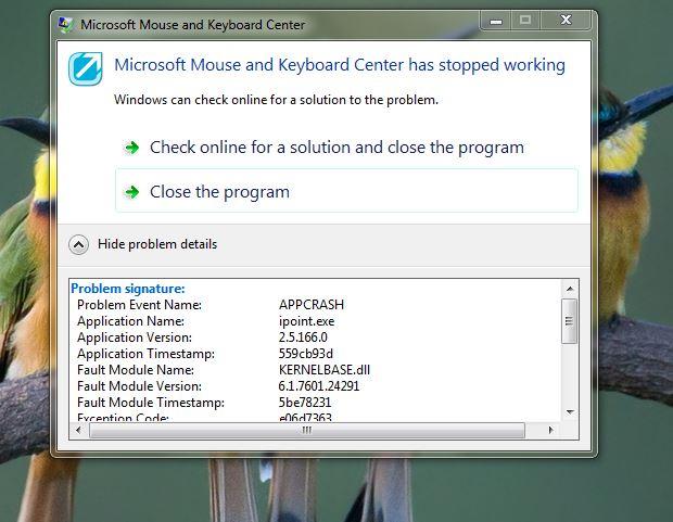 No specific solution in Windows 7 Home Premium 32-Bit for