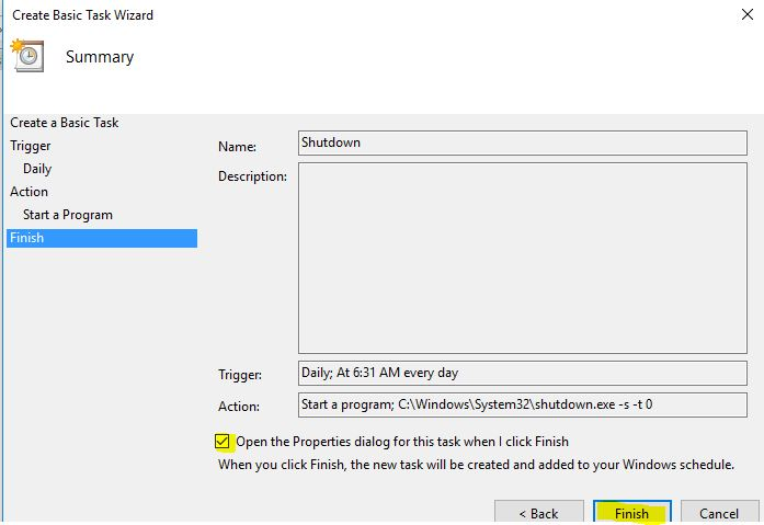 How To Schedule Computer To Shut Down At A Certain Time In The Night Microsoft Community