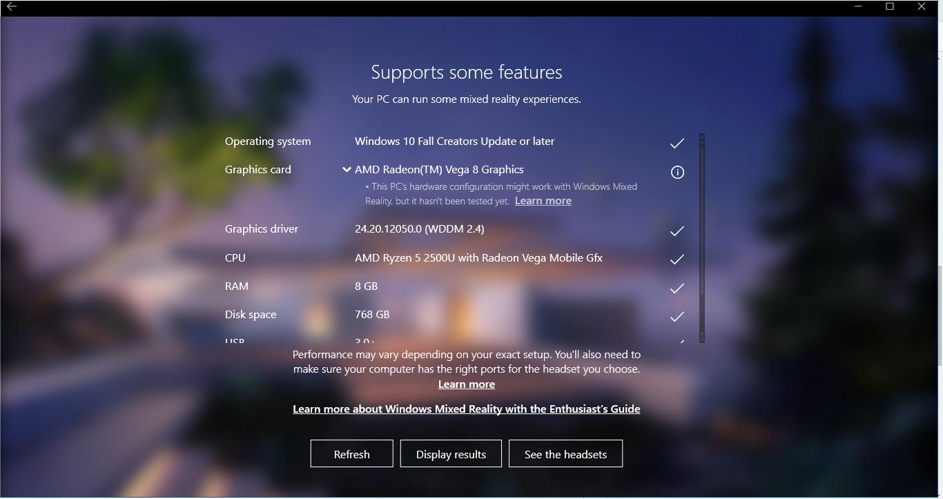 Pc Windows Mixed Reality Ready Microsoft Community