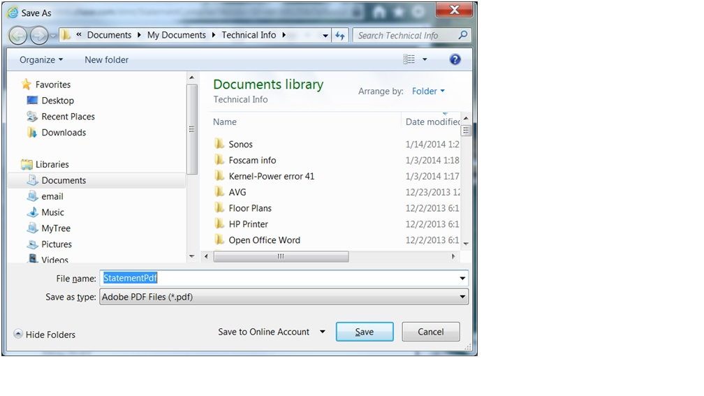 Can't save PDF file to computer - Microsoft Community