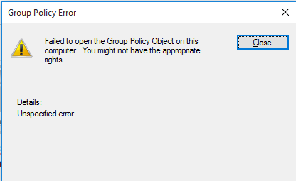 Error Group Policy