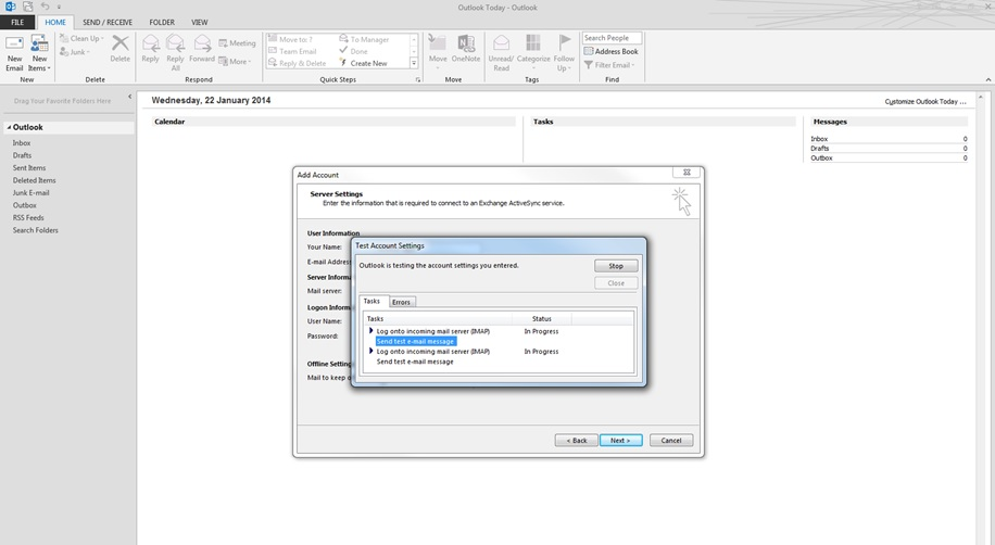 setting up gmail in outlook 2013