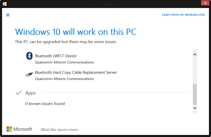 Reserving Windows 10 - known issues with Bluetooth Audio