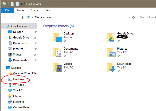 How to remove onedrive icon from windows 10 file explorer