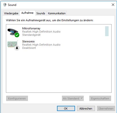 Internal Realtek Microphone Array Not Working In Windows 10 Microsoft Community