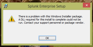 Unable to install  msi packages, error: There is a problem