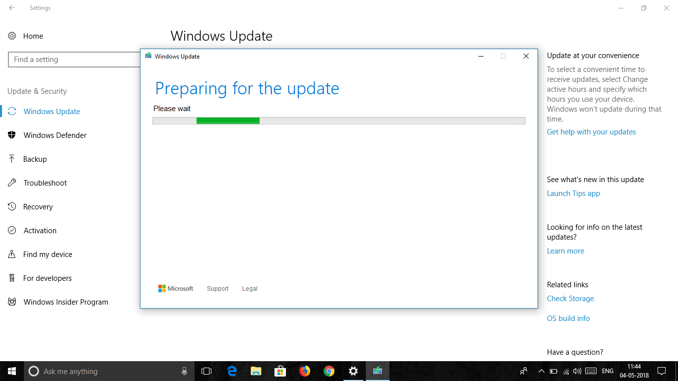 update windows 10 version 1803 offline