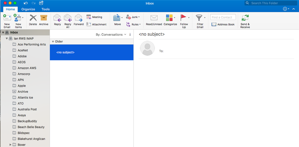 microsoft outlook 365 search not working mac