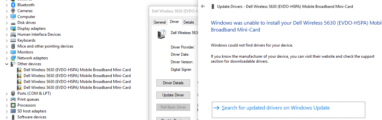 Unable to Install WWAN Drivers - Microsoft Community