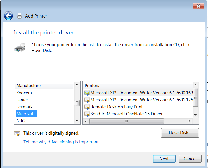 Microsoft Print to PDF unavailable in Windows Features and