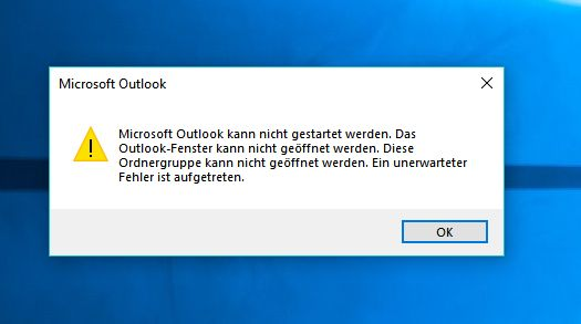 Outlook Startet Nicht Im Abgesicherten Modus