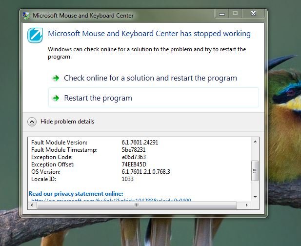 No specific solution in Windows 7 Home Premium 32-Bit for