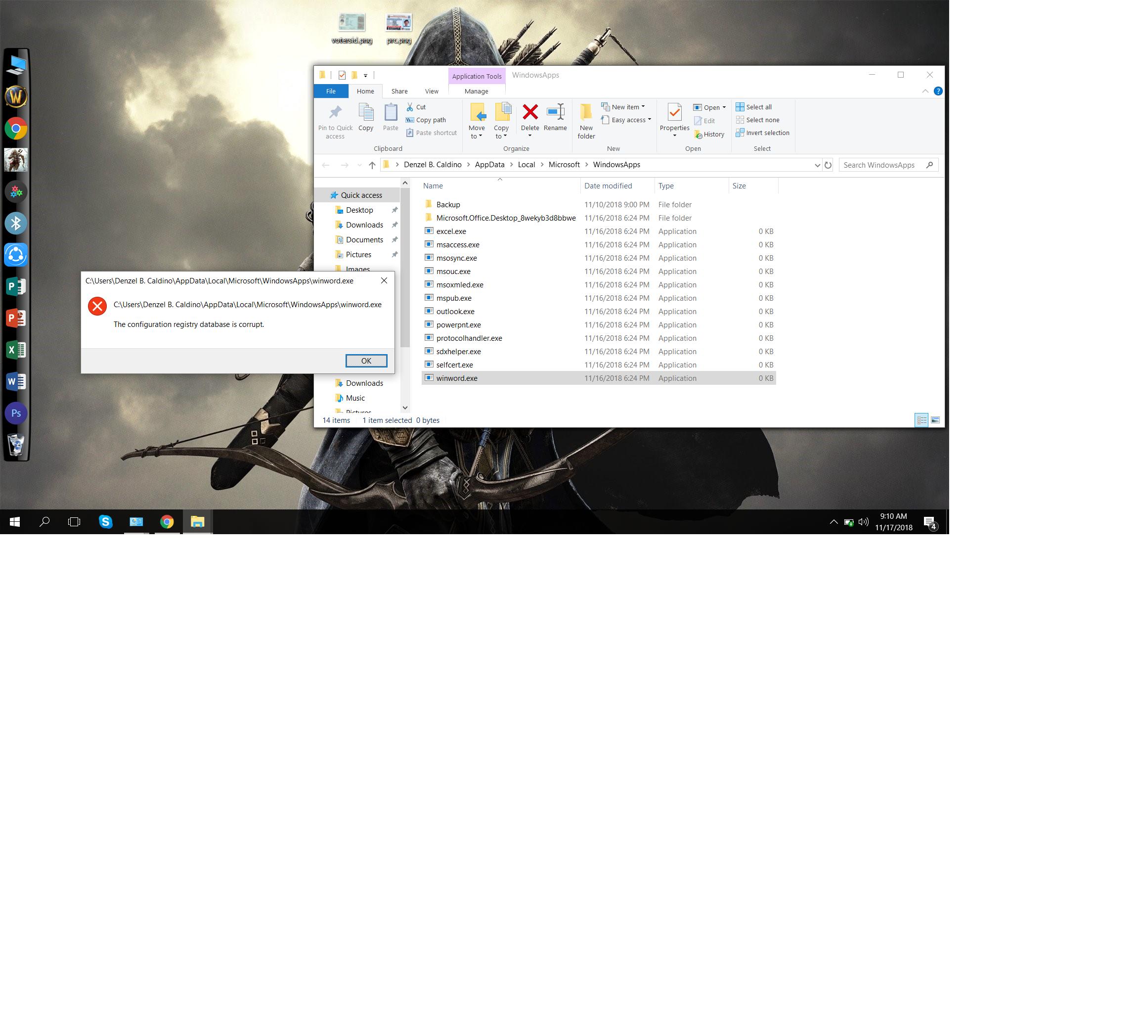 Corrupt Registry Database - Microsoft Community