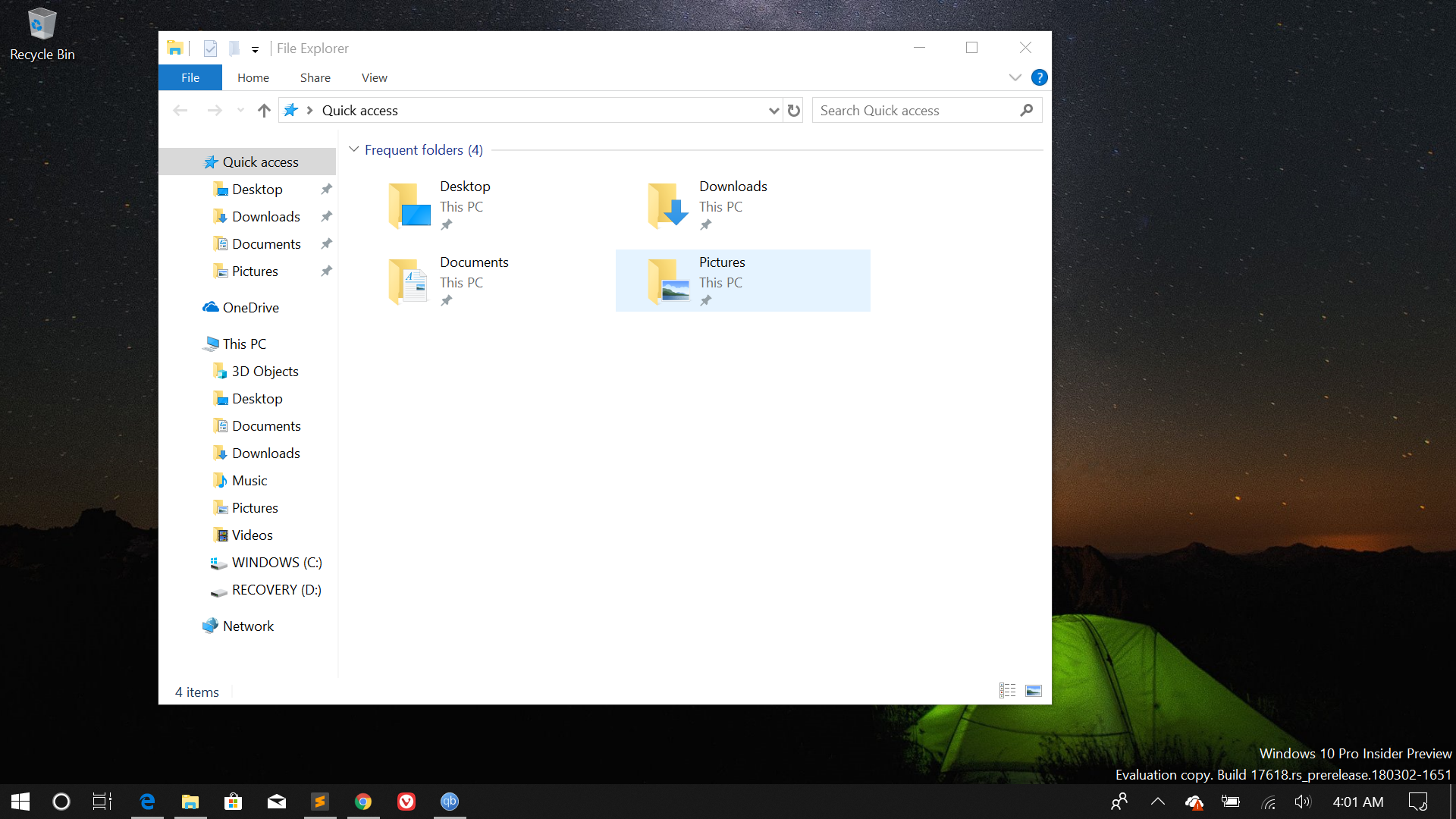 Technology Management Image: No Sets Feature For Me In Windows 10 Build 17618