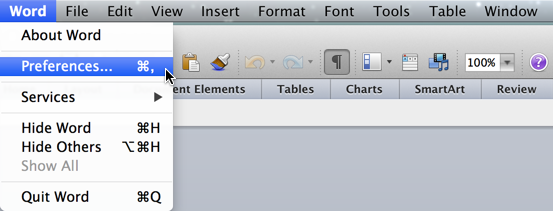 How to enable the Developer Tab in Word for Mac 2011