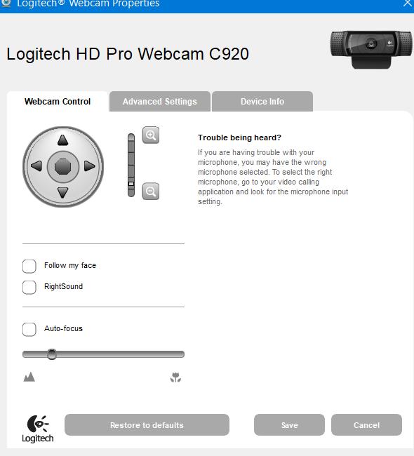 How Can I Adjust Settings For Logitech C920 Hd Pro Webcam