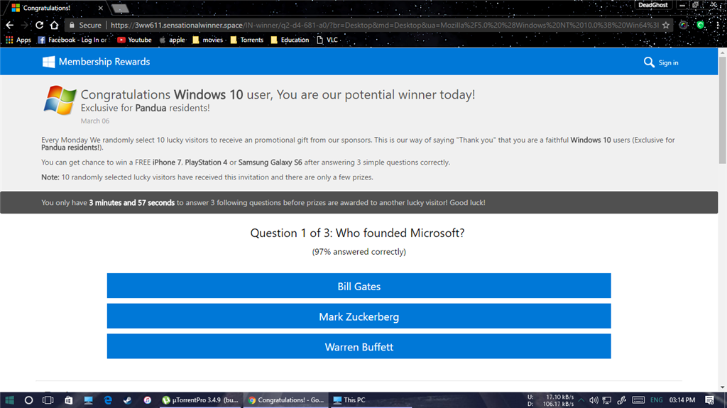 Microsoft corporation sweepstakes promotion 2018 election