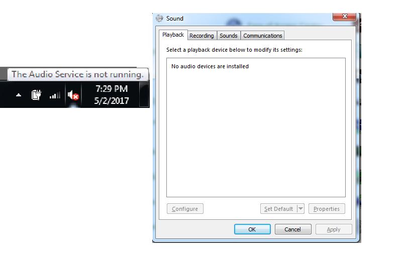 no audio realtek windows 7