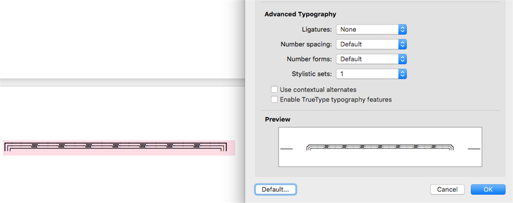 mac word font preview