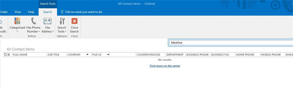 New Contacts no longer show up in Outlook 2016 desktop but