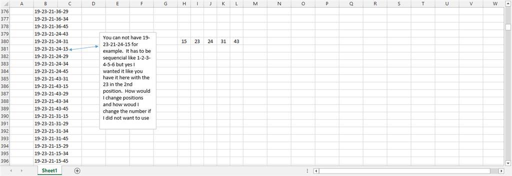 Write a Macro or formula to make a lottery wheel - Microsoft
