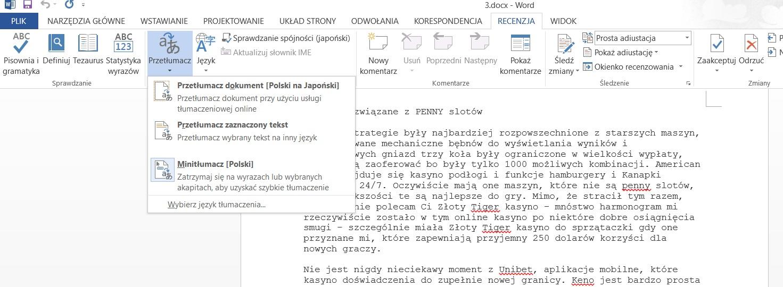 Problem with Word 2013 online translator - Microsoft Community