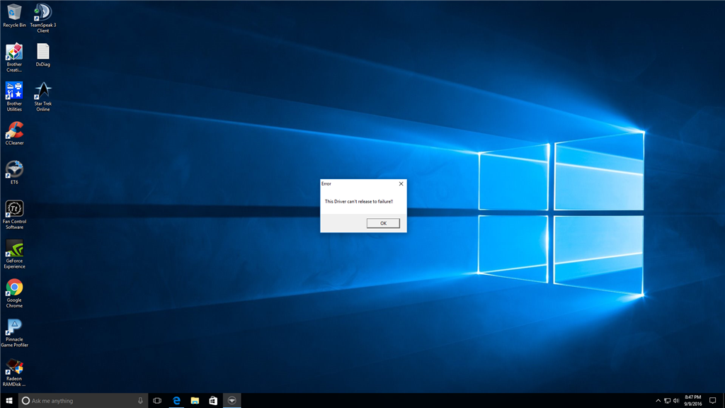 this driver cant release to failure How to fix this? - Microsoft