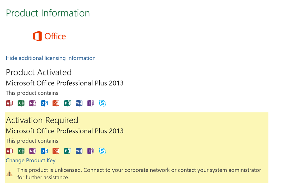 microsoft office activation wizard 2013 product key
