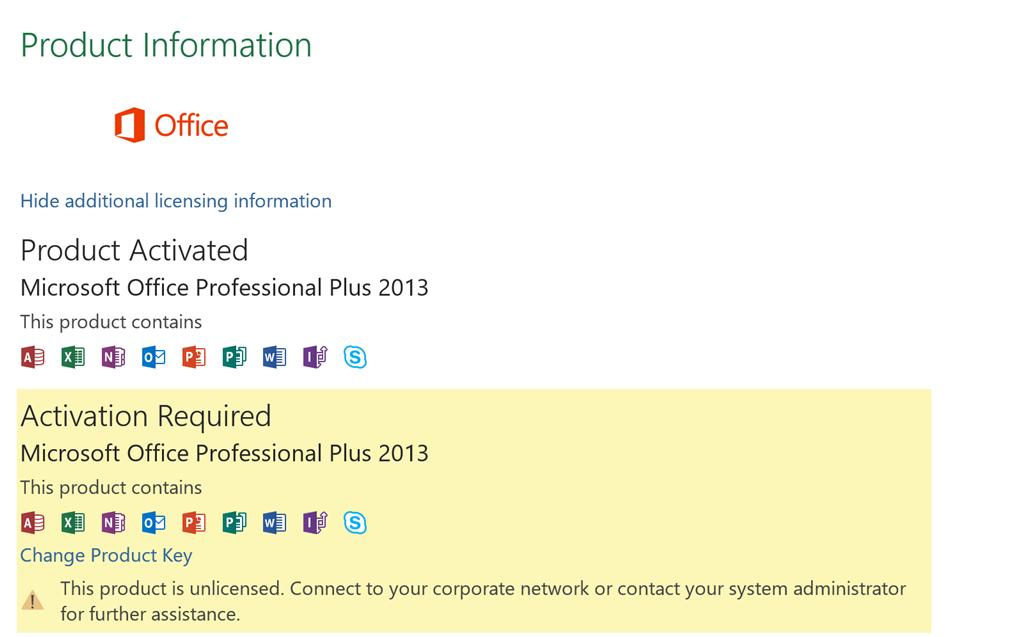 microsoft professional plus 2013 activation key