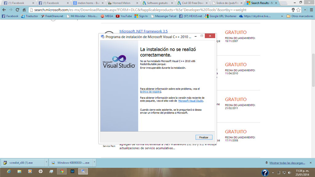 microsoft visual c++ 2010 redistributable package x32 windows xp
