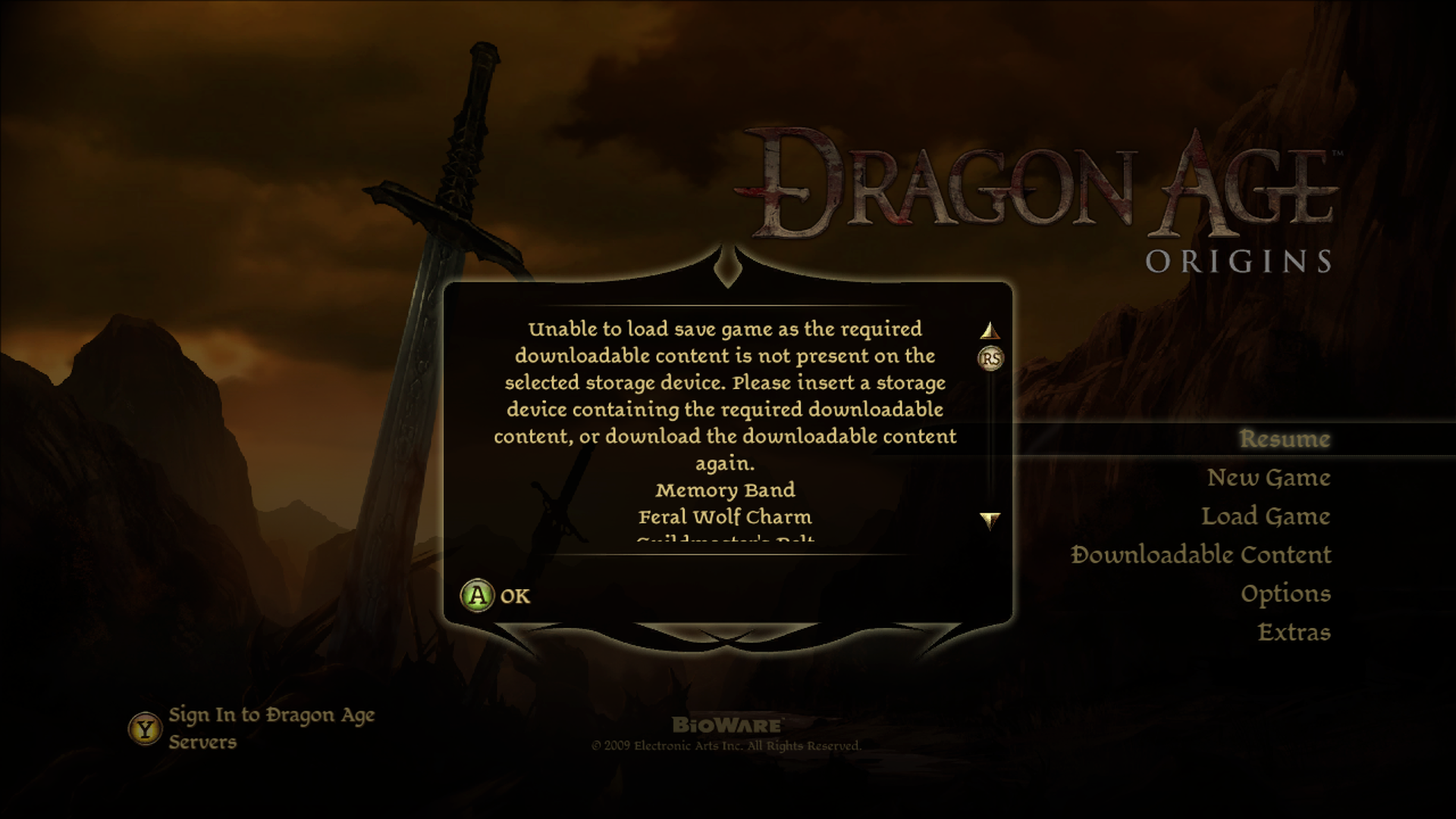 Dragon Age Origins:  Exclusive DLC was randomly downloaded somehow and disappeared the next... [IMG]