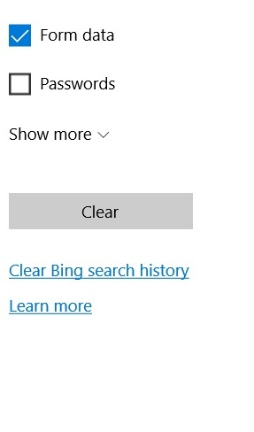 how to delete browser history on microsoft edge