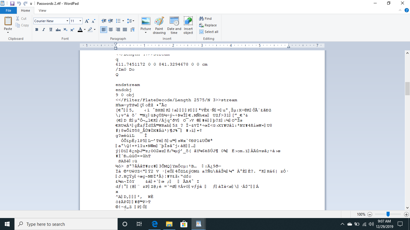 My document file is corrupted with asian text - Microsoft Community