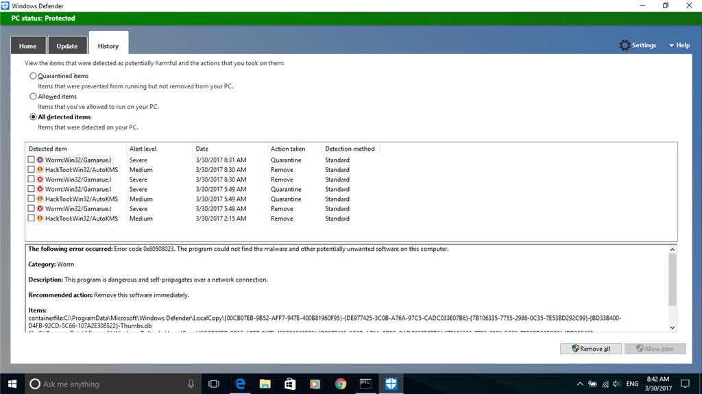 Worm:Win32/Gamarue I - Microsoft Community