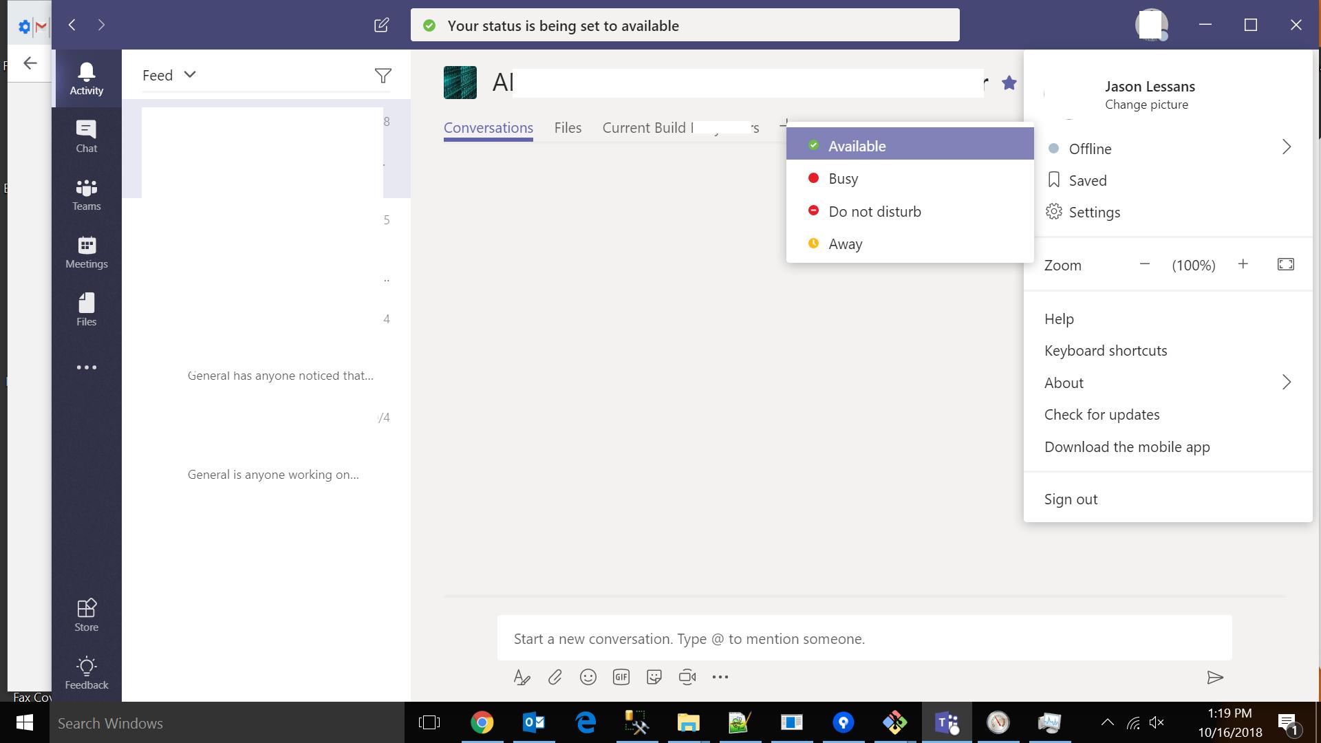 Microsoft Teams status is stuck on 'offline' - Microsoft