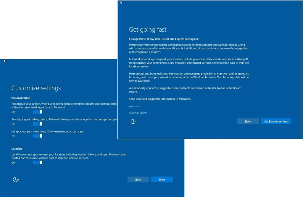 How to: Complete the Windows 10 Out of Box Experience