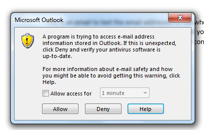 Issue with Word Mail Merge and Outlook - Microsoft Community