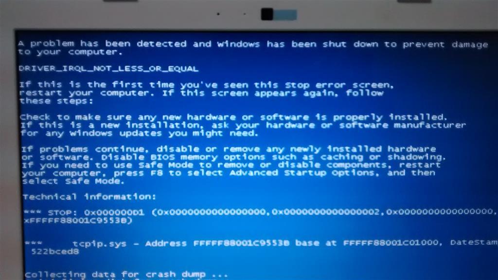 TCPIP.sys error, causing blue screen Windows 7 x64 - Microsoft Community