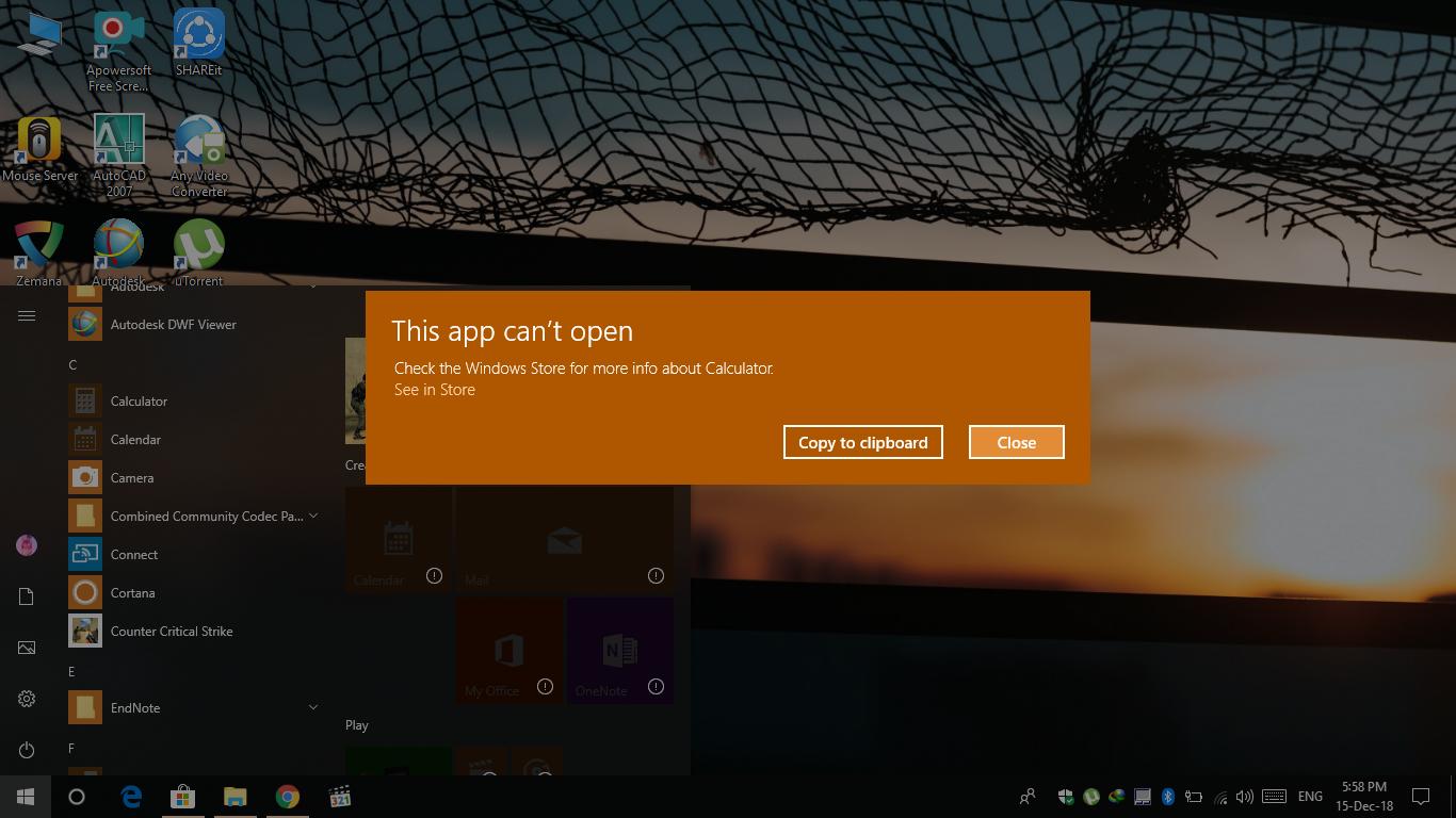 Windows 10 apps won\u0027t open. \