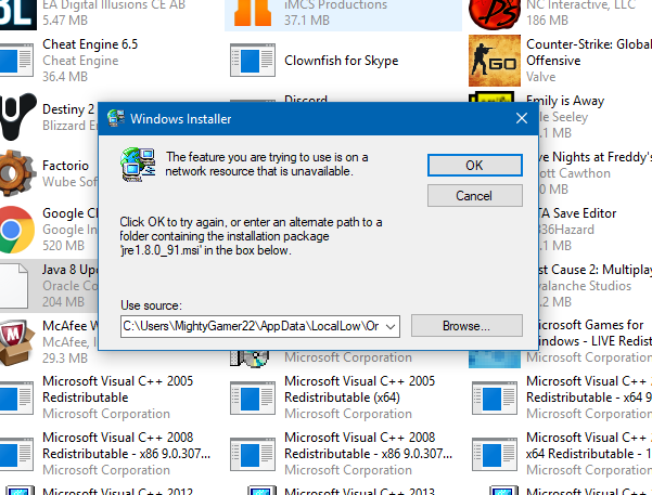 my java wont uninstall on my windows 10 pc - Microsoft Community