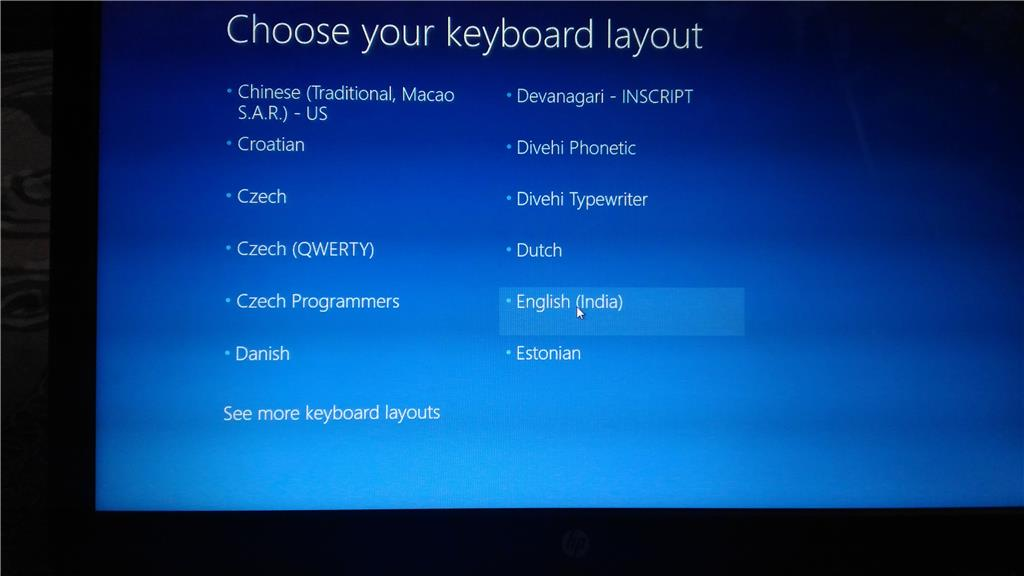how to fix windows 10 choose your keyboard layout