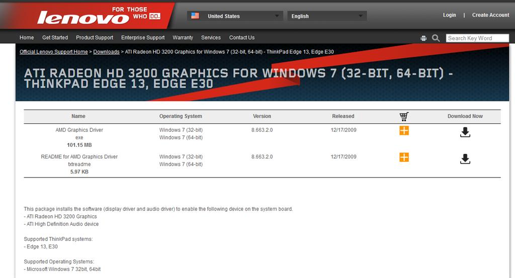 Ati radeon hd 3200 driver windows 7.
