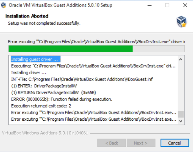 install vbox guest additions windows 10