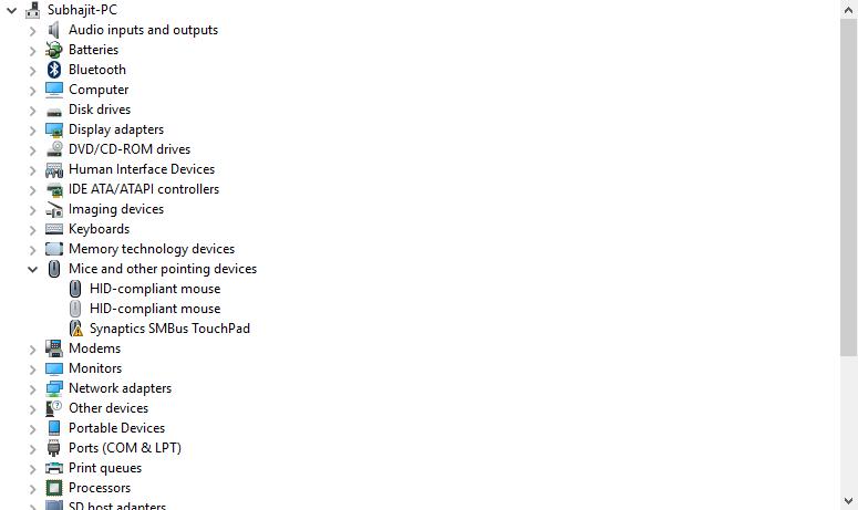 synaptics smbus touchpad driver 19.0.19.1