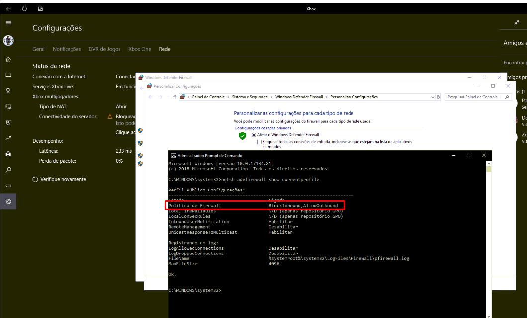 Xbox app server connectivity on Windows 10 is blocked