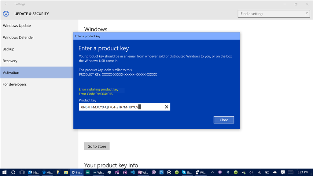 Build 10525 still cannot activate win10 build 10525 i had the this is the second time this has happened it happened with rtm 10240 and i was told to wait until win10 was released ie after 729 ccuart Choice Image