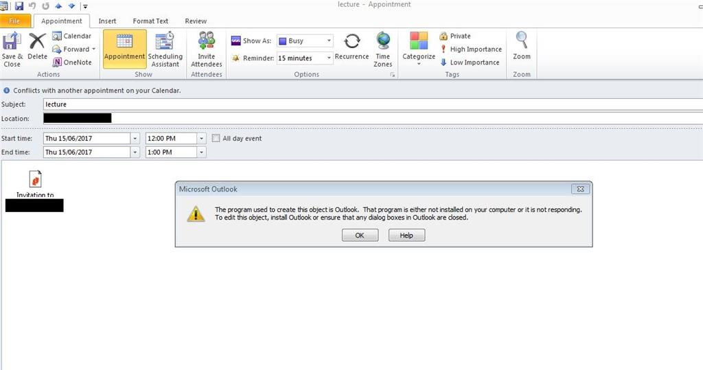 Outlook issue with calendar \u0026 attachments - Microsoft Community