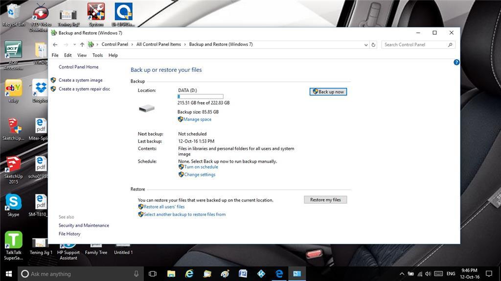 Backing up my laptop in Windows 10 - Microsoft Community